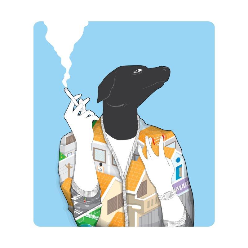 the doggy house Men's T-Shirt by kitschkultur's Artist Shop