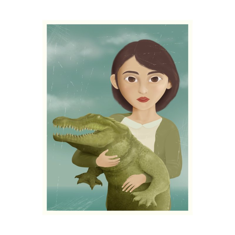 the crocodile charmer Men's T-Shirt by kitschkultur's Artist Shop