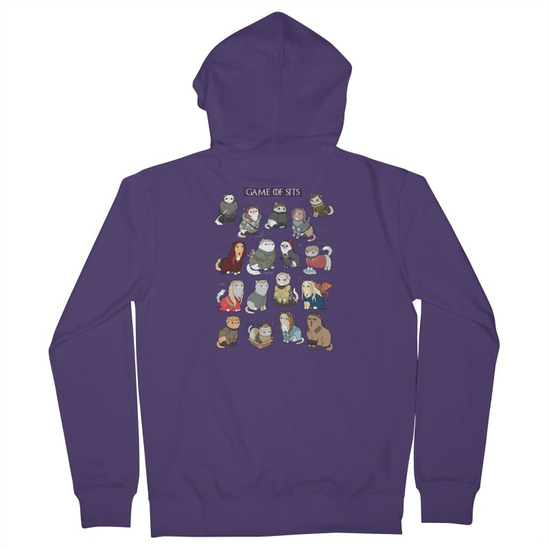 Game of Sits Women's French Terry Zip-Up Hoody by KittyCassandra's Artist Shop