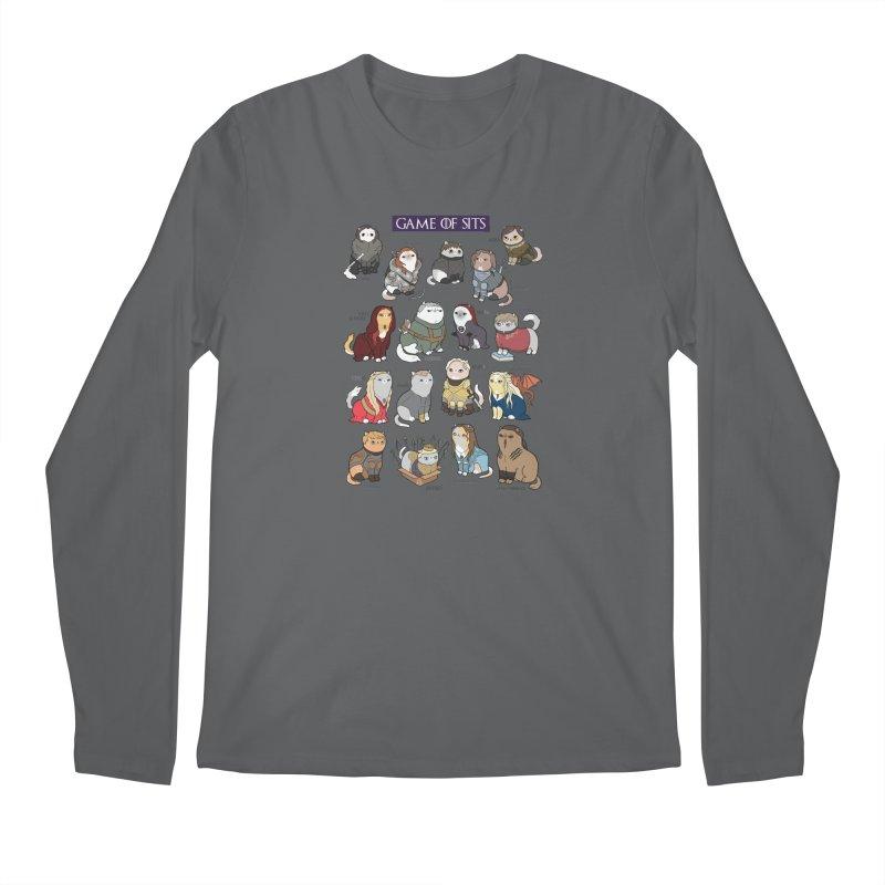 Game of Sits Men's Longsleeve T-Shirt by KittyCassandra's Artist Shop
