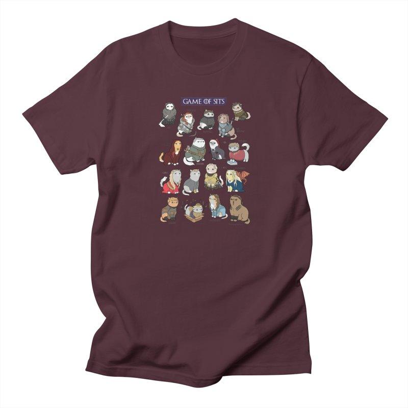 Game of Sits Men's Regular T-Shirt by KittyCassandra's Artist Shop