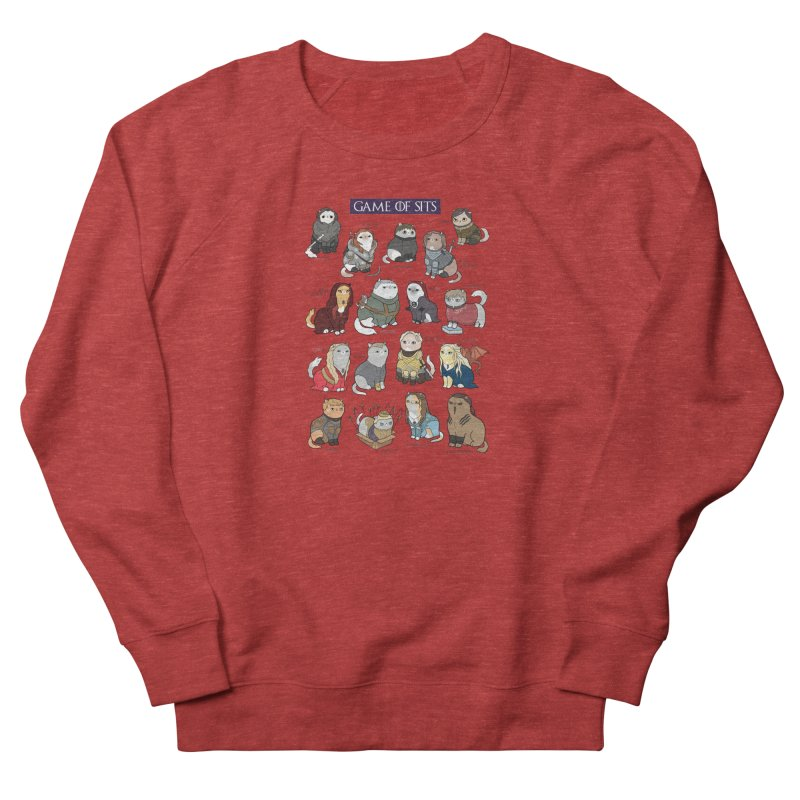 Game of Sits Men's French Terry Sweatshirt by KittyCassandra's Artist Shop