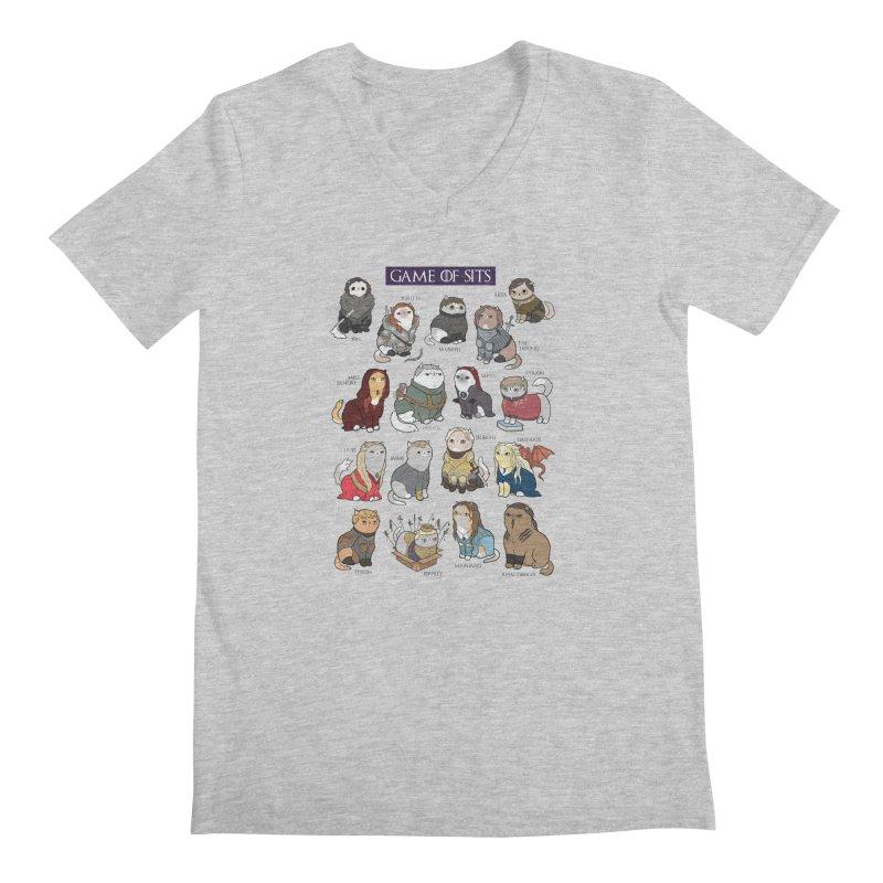 Game of Sits Men's V-Neck by KittyCassandra's Artist Shop