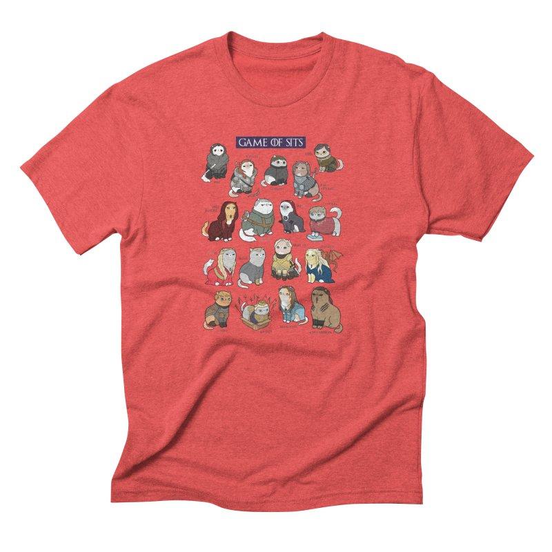 Game of Sits Men's Triblend T-shirt by KittyCassandra's Artist Shop