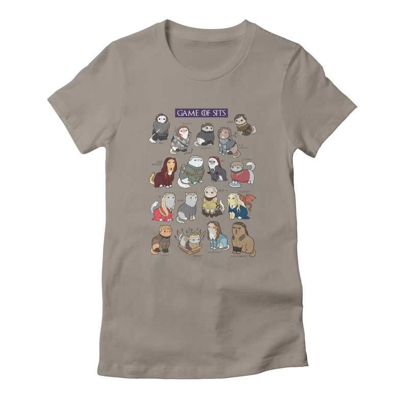 Game of Sits Women's Fitted T-Shirt by KittyCassandra's Artist Shop