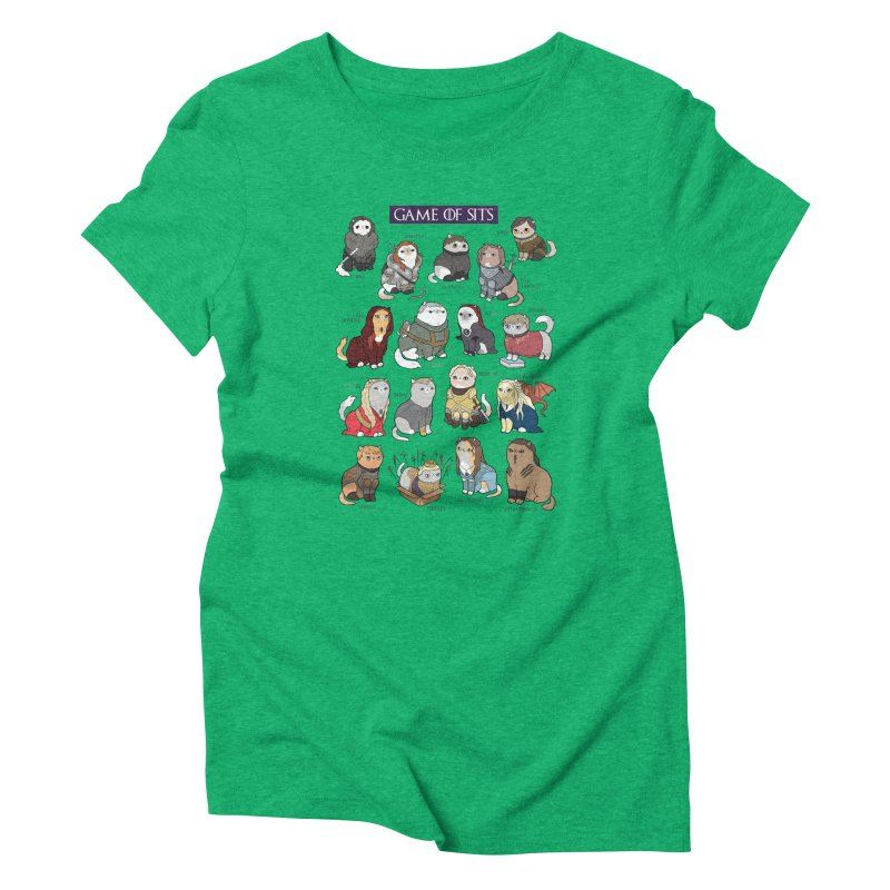 Game of Sits Women's Triblend T-Shirt by KittyCassandra's Artist Shop