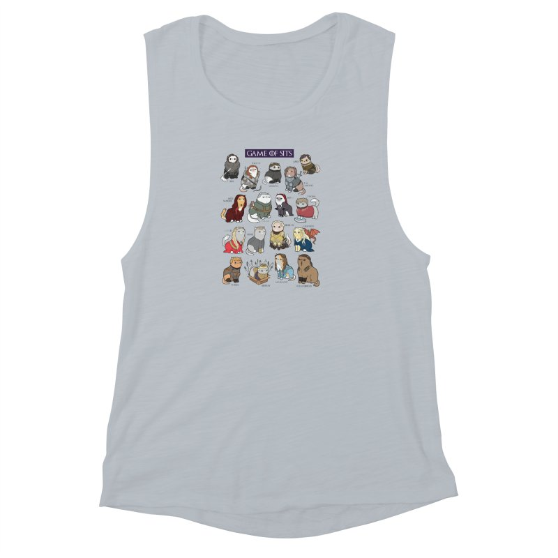 Game of Sits Women's Muscle Tank by KittyCassandra's Artist Shop