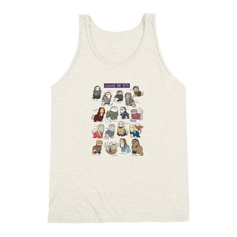 Game of Sits Men's Triblend Tank by KittyCassandra's Artist Shop