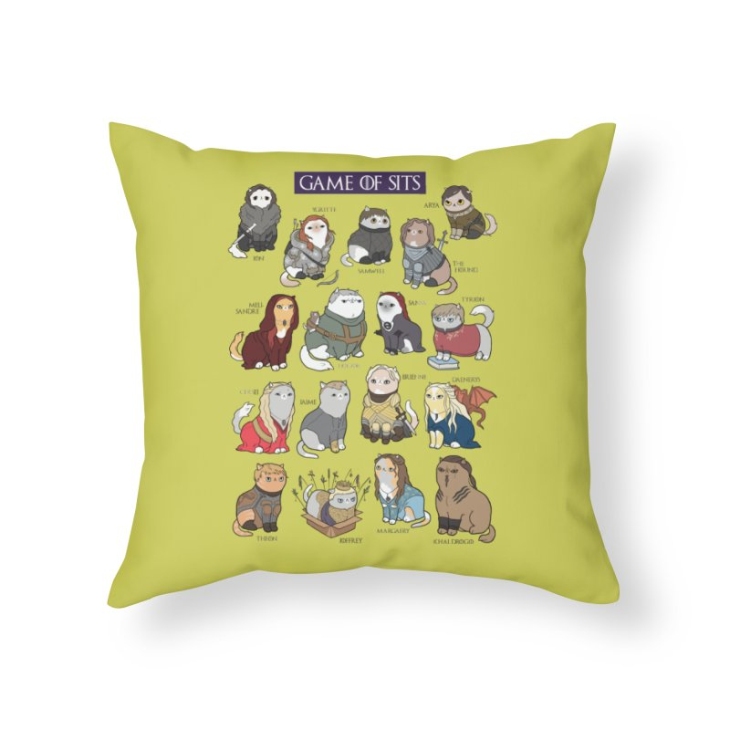 Game of Sits Home Throw Pillow by KittyCassandra's Artist Shop