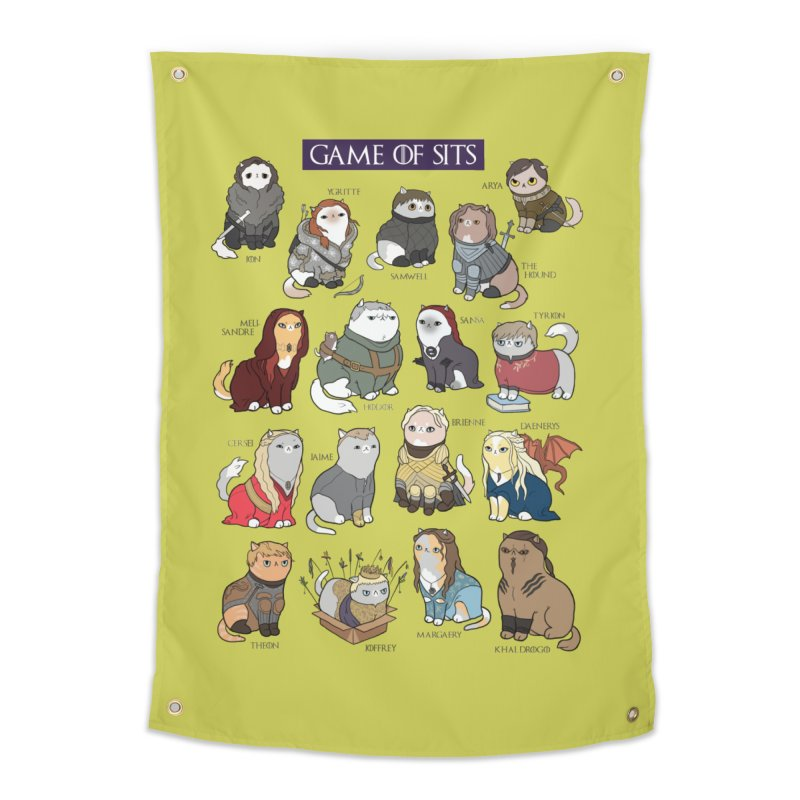 Game of Sits Home Tapestry by KittyCassandra's Artist Shop