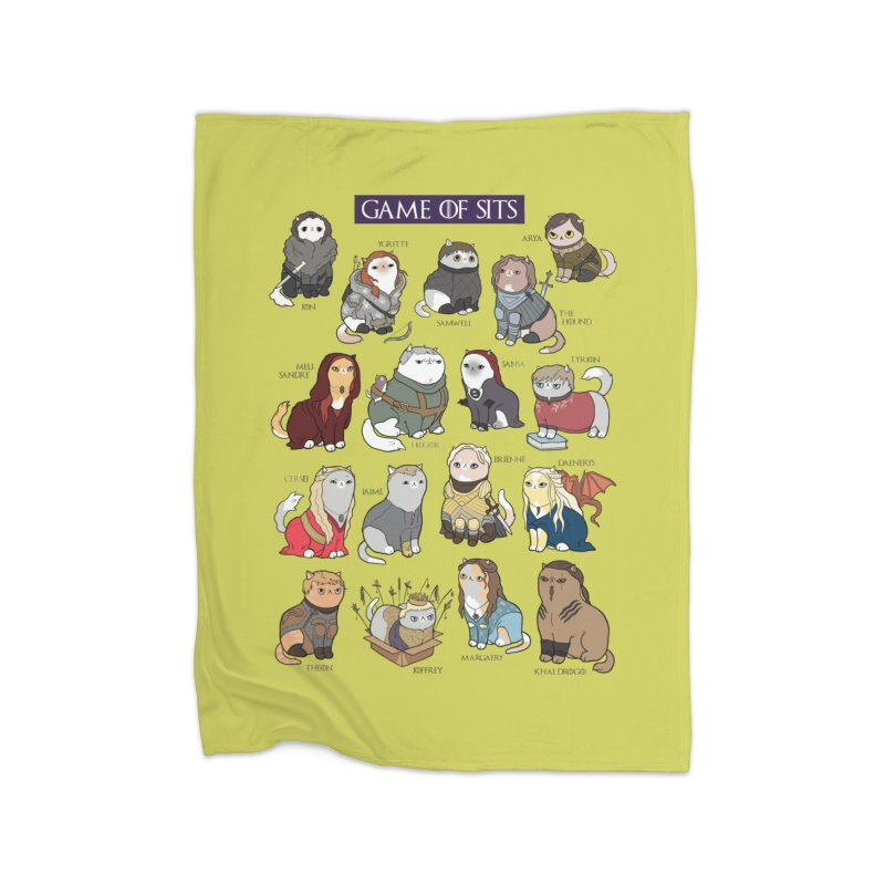 Game of Sits Home Blanket by KittyCassandra's Artist Shop