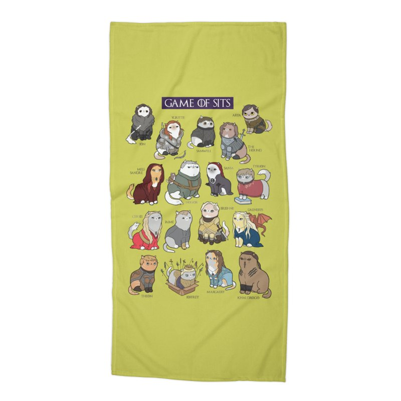 Game of Sits Accessories Beach Towel by KittyCassandra's Artist Shop