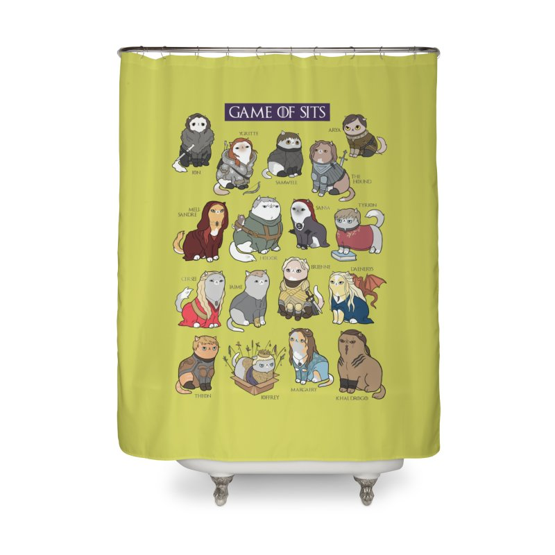 Game of Sits Home Shower Curtain by KittyCassandra's Artist Shop