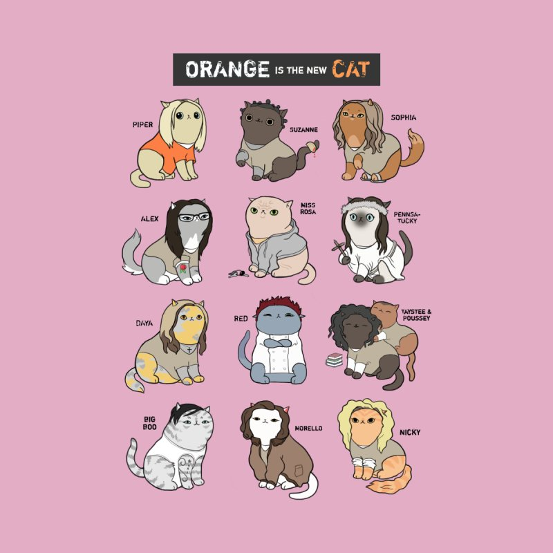 Orange is the New Cat Women's Fitted T-Shirt by KittyCassandra's Artist Shop