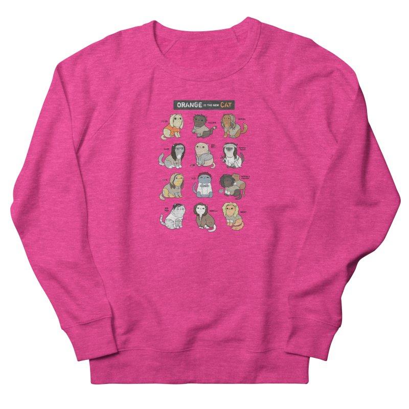 Orange is the New Cat Men's French Terry Sweatshirt by KittyCassandra's Artist Shop