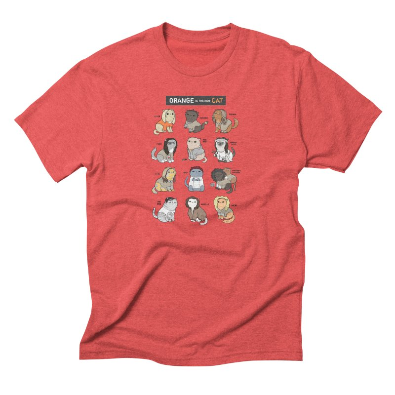 Orange is the New Cat Men's Triblend T-Shirt by KittyCassandra's Artist Shop