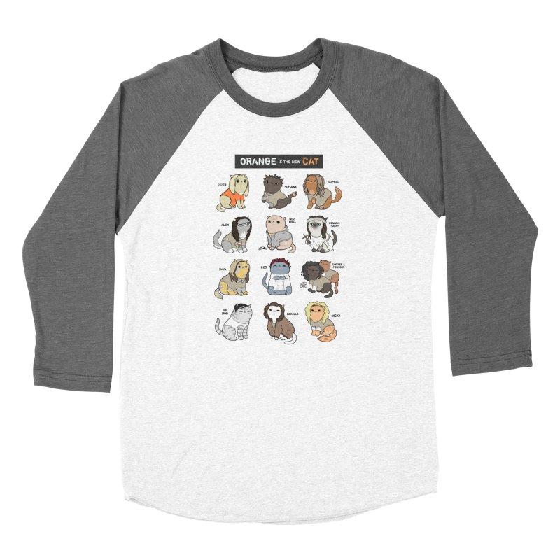 Orange is the New Cat Women's Baseball Triblend T-Shirt by KittyCassandra's Artist Shop