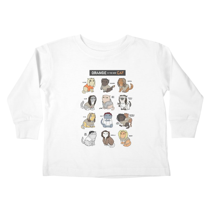 Orange is the New Cat Kids Toddler Longsleeve T-Shirt by KittyCassandra's Artist Shop