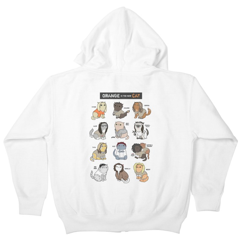 Orange is the New Cat Kids Zip-Up Hoody by KittyCassandra's Artist Shop