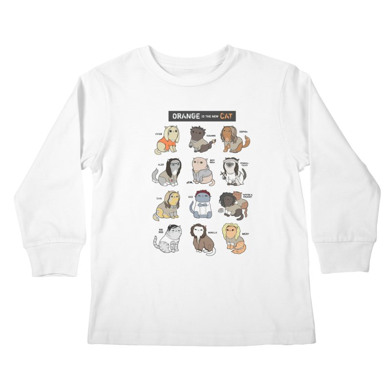 Orange is the New Cat Kids Longsleeve T-Shirt by KittyCassandra's Artist Shop