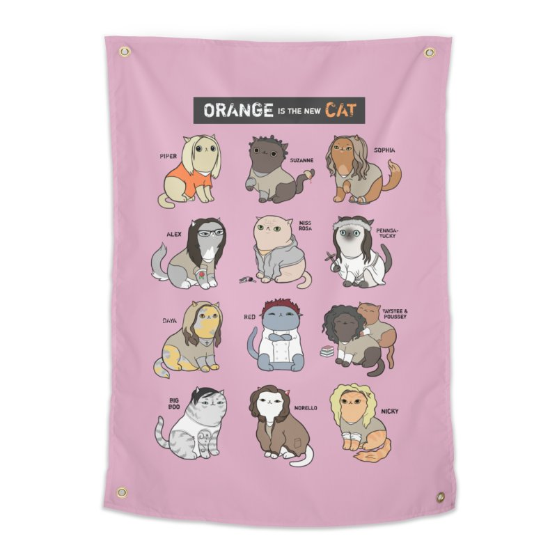 Orange is the New Cat Home Tapestry by KittyCassandra's Artist Shop