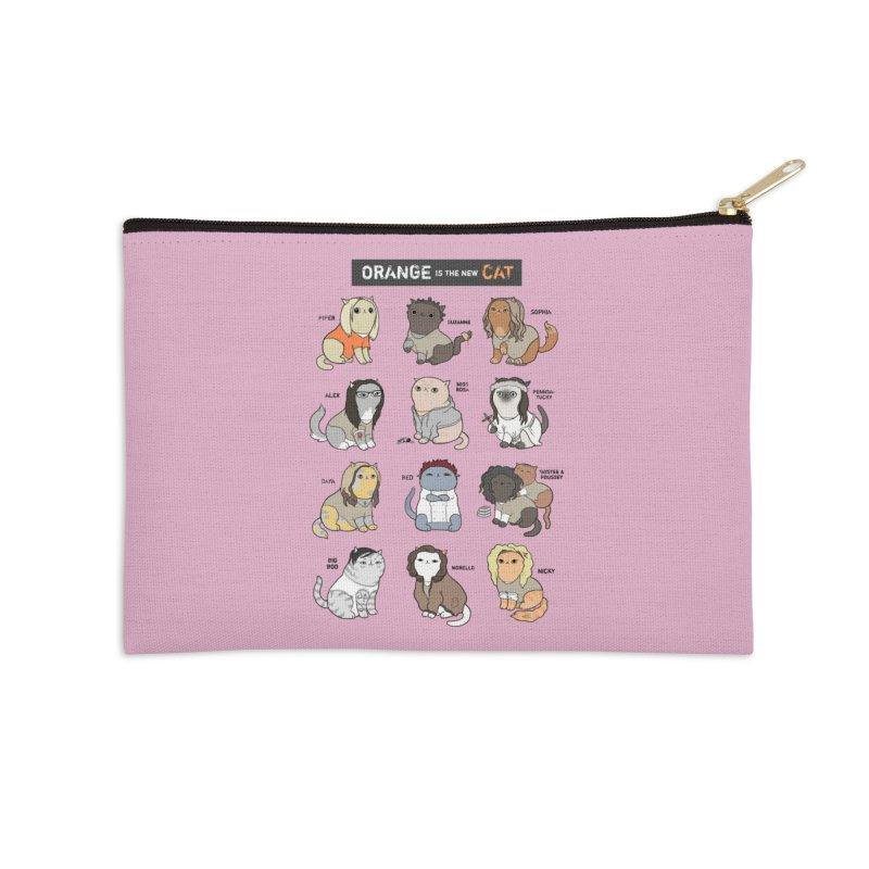 Orange is the New Cat Accessories Zip Pouch by KittyCassandra's Artist Shop