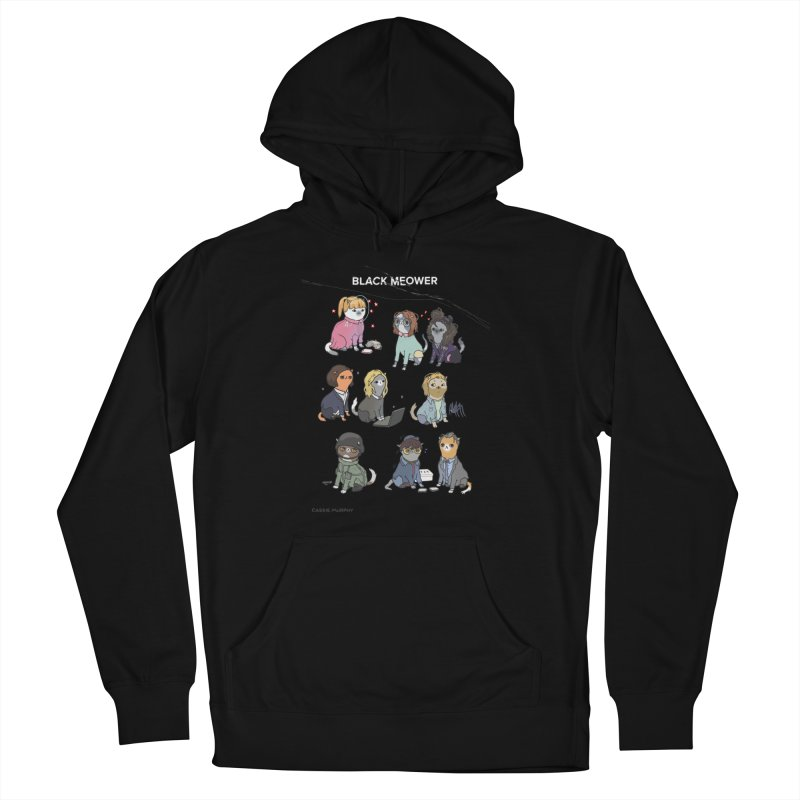 Black (Cat) Mirror Men's Pullover Hoody by KittyCassandra's Artist Shop