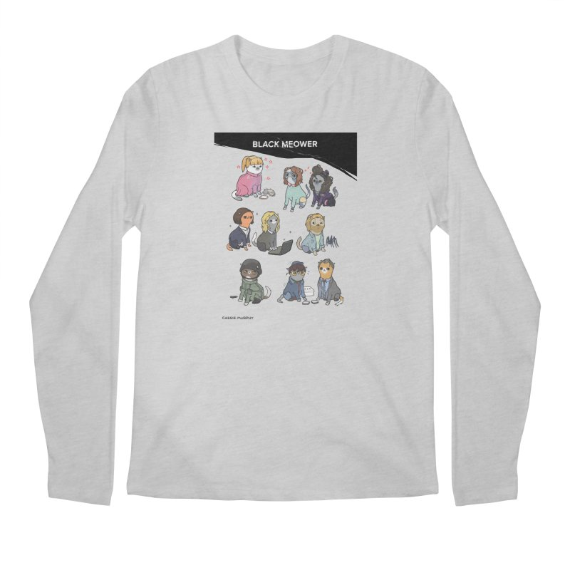 Black (Cat) Mirror Men's Longsleeve T-Shirt by KittyCassandra's Artist Shop