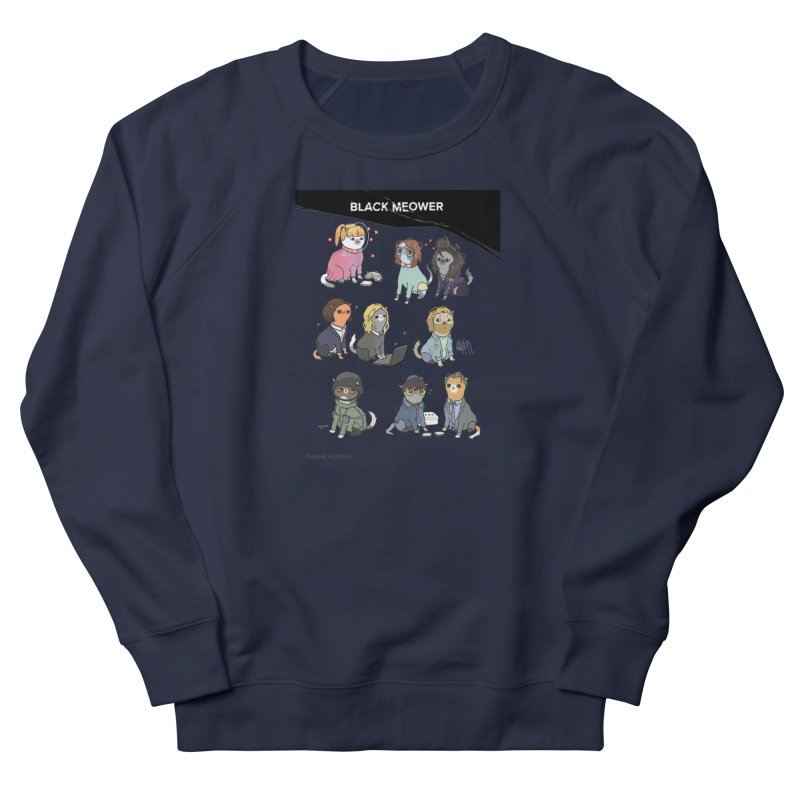 Black (Cat) Mirror Women's Sweatshirt by KittyCassandra's Artist Shop