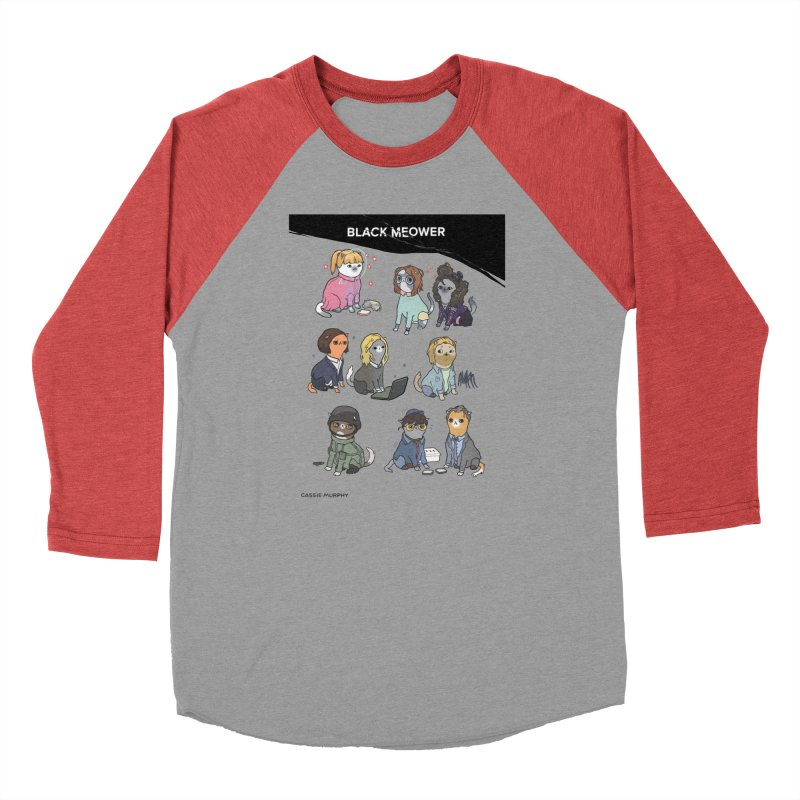 Black (Cat) Mirror Women's Baseball Triblend T-Shirt by KittyCassandra's Artist Shop