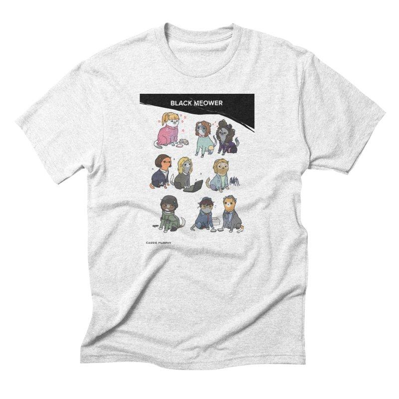 Black (Cat) Mirror Men's Triblend T-shirt by KittyCassandra's Artist Shop