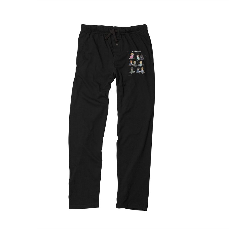Black (Cat) Mirror Men's Lounge Pants by KittyCassandra's Artist Shop