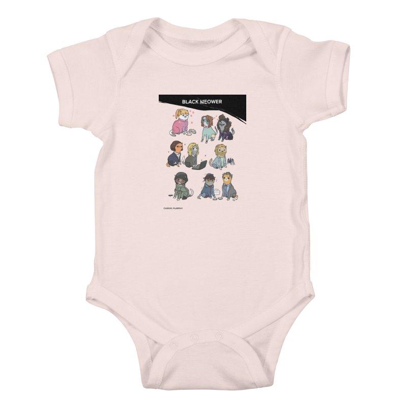 Black (Cat) Mirror Kids Baby Bodysuit by KittyCassandra's Artist Shop