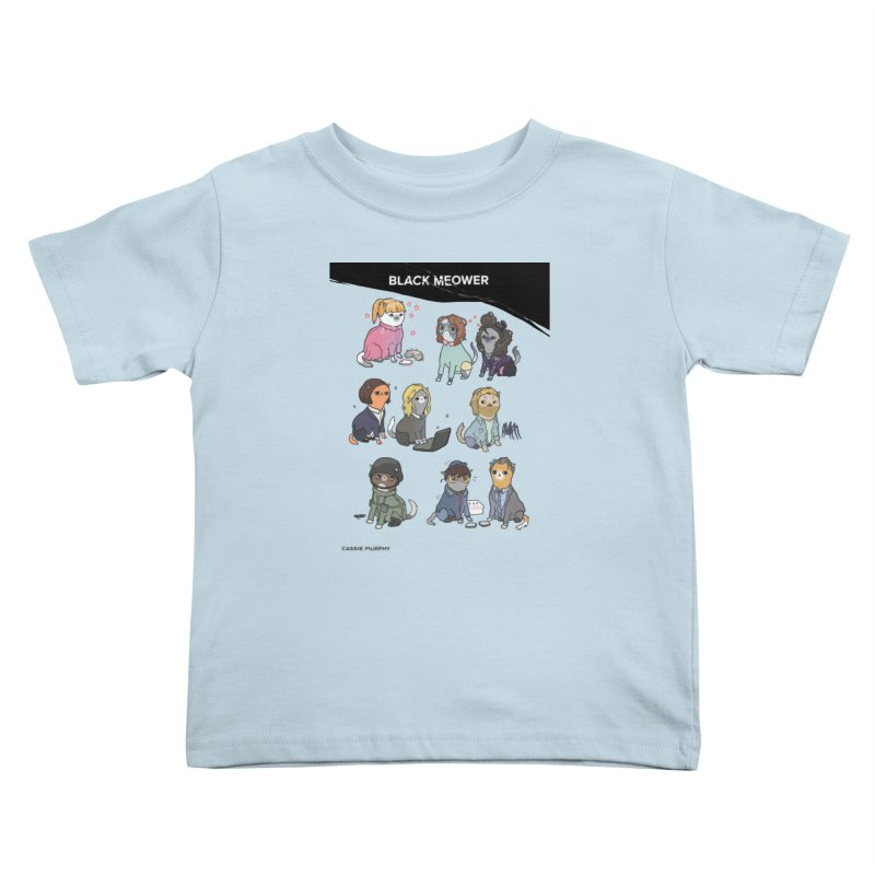 Black (Cat) Mirror Kids Toddler T-Shirt by KittyCassandra's Artist Shop