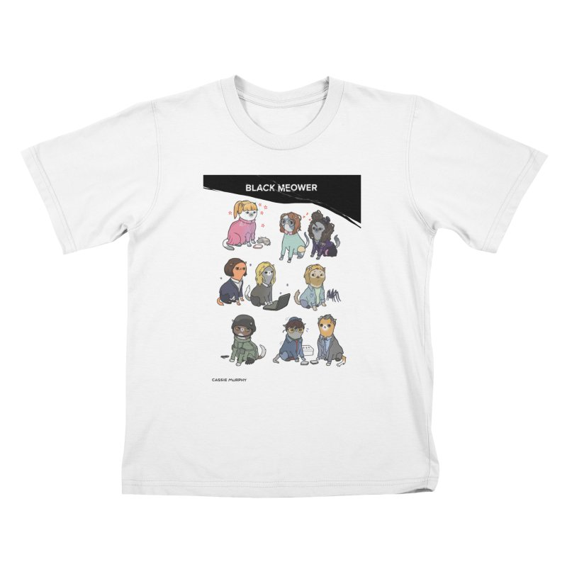 Black (Cat) Mirror Kids T-Shirt by KittyCassandra's Artist Shop