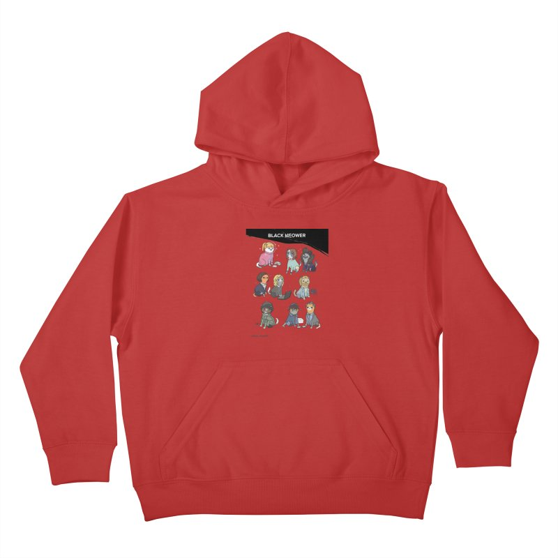 Black (Cat) Mirror Kids Pullover Hoody by KittyCassandra's Artist Shop