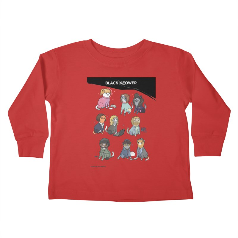 Black (Cat) Mirror Kids Toddler Longsleeve T-Shirt by KittyCassandra's Artist Shop