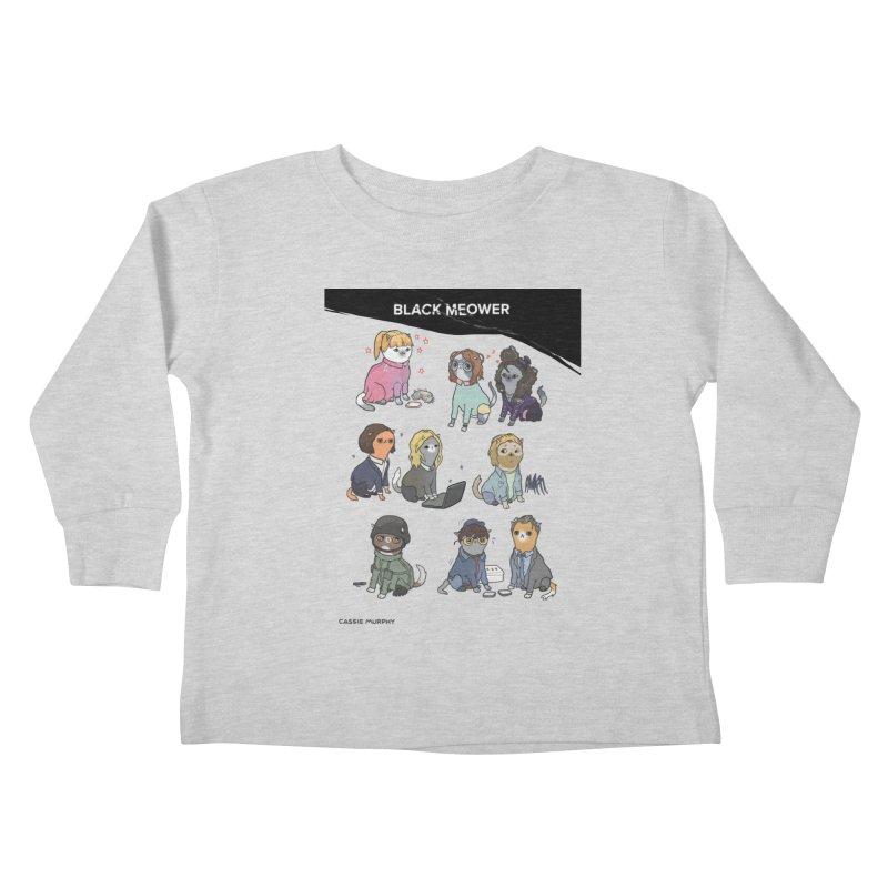 Black (Cat) Mirror Kids Toddler Longsleeve T-Shirt by KittyCassandra's Artist Shop