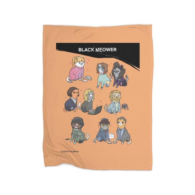 Black (Cat) Mirror Home Blanket by KittyCassandra's Artist Shop