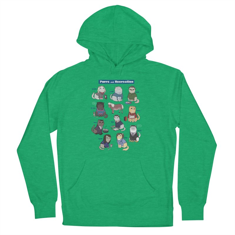 Purrs and Recreation Women's Pullover Hoody by KittyCassandra's Artist Shop