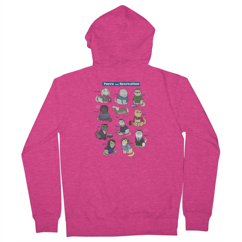 Purrs and Recreation Women's French Terry Zip-Up Hoody by KittyCassandra's Artist Shop