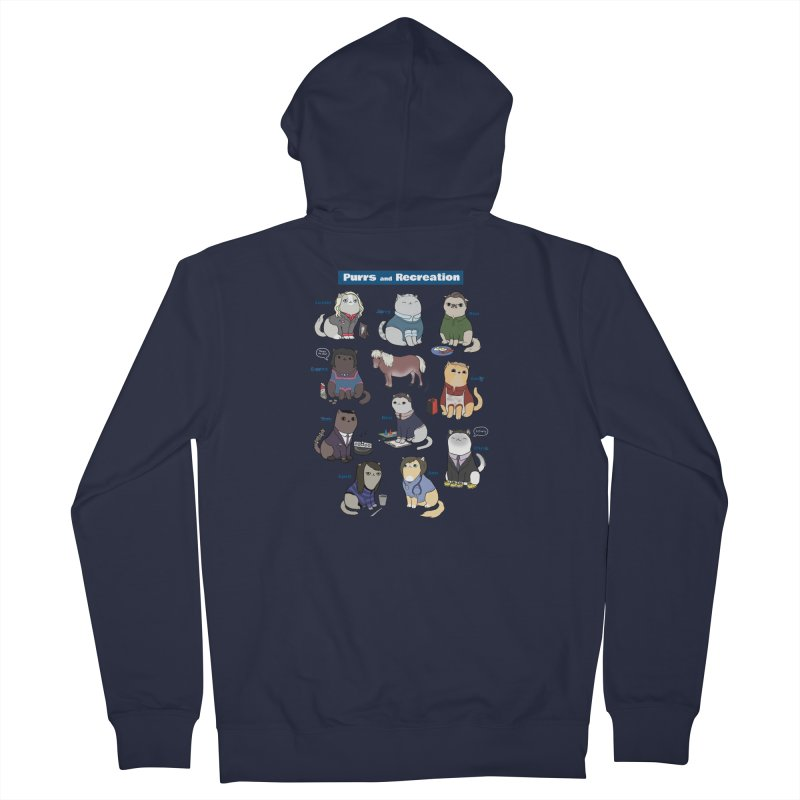 Purrs and Recreation Men's Zip-Up Hoody by KittyCassandra's Artist Shop