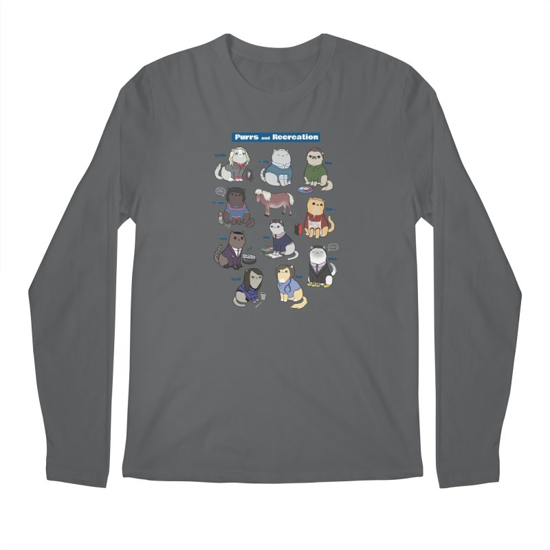 Purrs and Recreation Men's Longsleeve T-Shirt by KittyCassandra's Artist Shop
