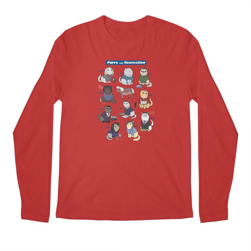 Purrs and Recreation Men's Longsleeve T-Shirt by KittyCassandra's Artist Shop