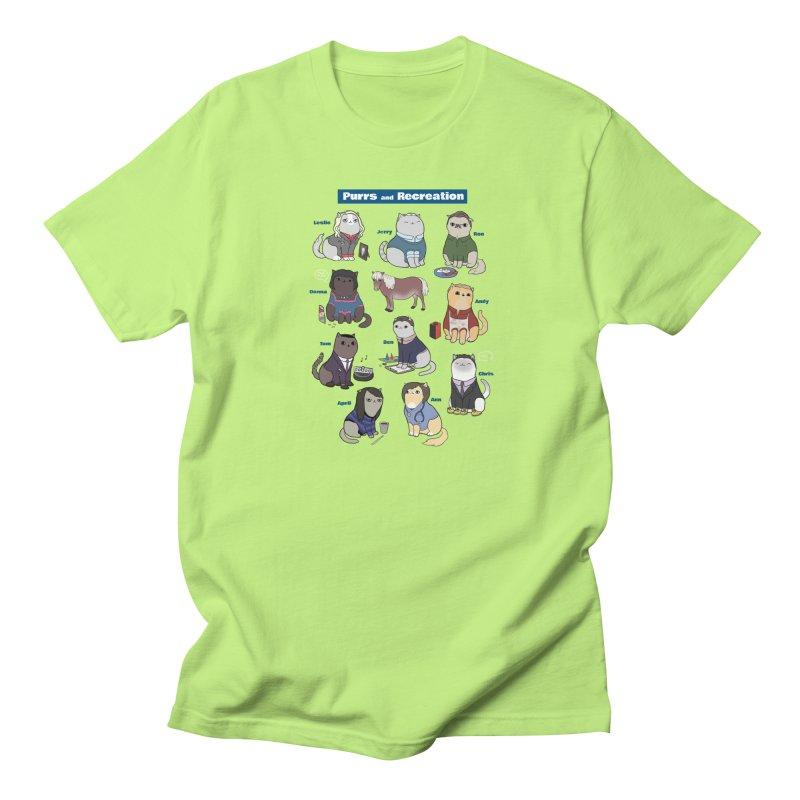 Purrs and Recreation Men's T-Shirt by KittyCassandra's Artist Shop