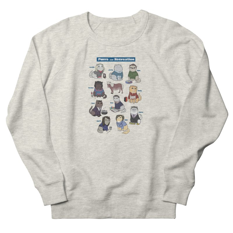 Purrs and Recreation Men's French Terry Sweatshirt by KittyCassandra's Artist Shop