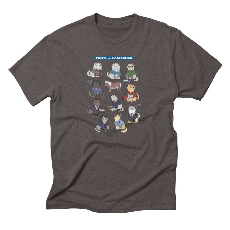 Purrs and Recreation Men's Triblend T-Shirt by KittyCassandra's Artist Shop