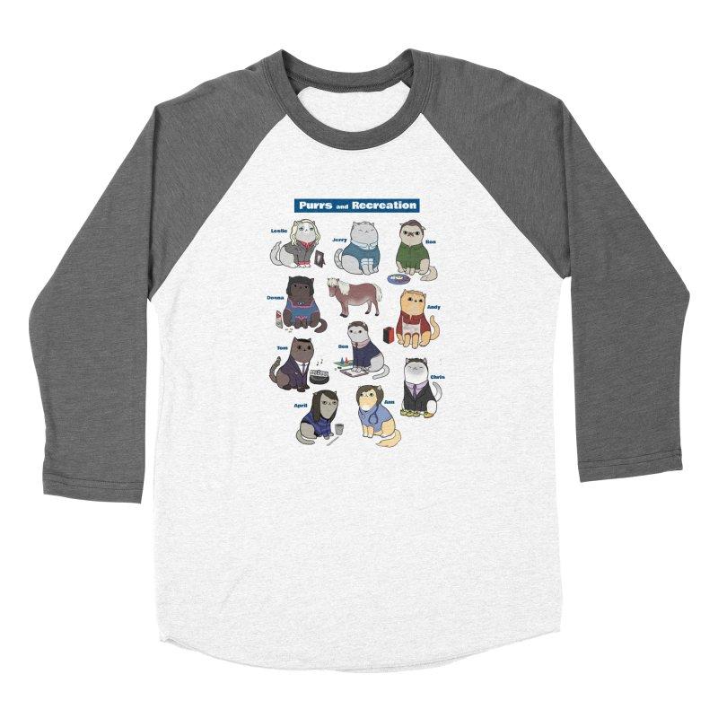 Purrs and Recreation Women's Baseball Triblend T-Shirt by KittyCassandra's Artist Shop