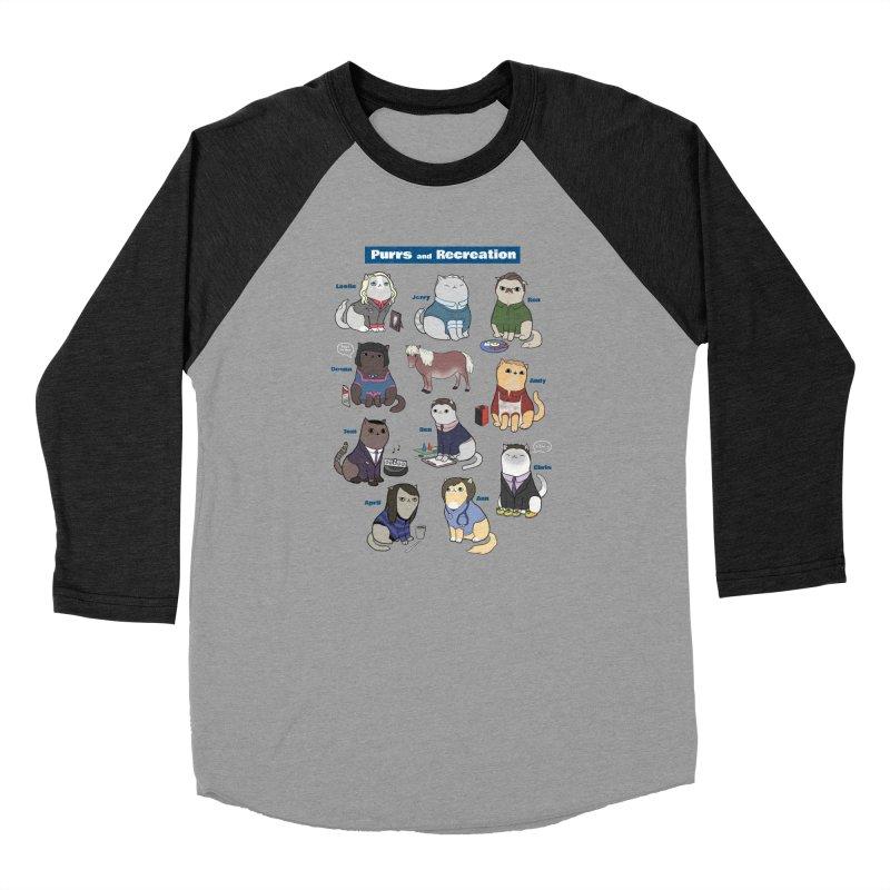 Purrs and Recreation Women's Baseball Triblend Longsleeve T-Shirt by KittyCassandra's Artist Shop