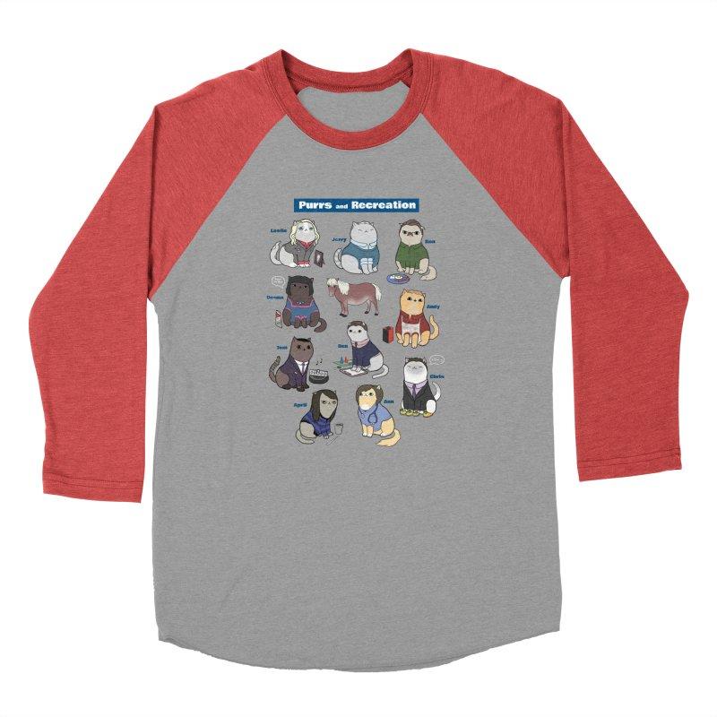 Purrs and Recreation Men's Baseball Triblend T-Shirt by KittyCassandra's Artist Shop